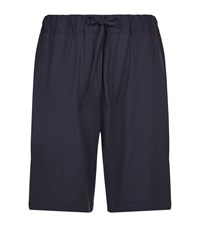 Hanro Jersey Lounge Shorts Male Navy