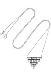 Ileana Makri Pyramid 18 Karat White Gold Diamond Necklace One Size