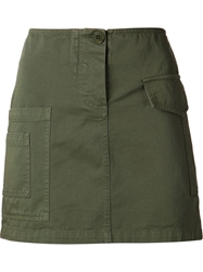 Band Of Outsiders Cargo Mini Skirt Green