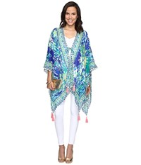 Lilly Pulitzer Island Caftan Brilliant Blue Wade And Sea Engineered Women's Clothing