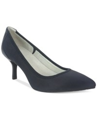 Tahari Toby Stretch Pumps Women's Shoes Dark Navy