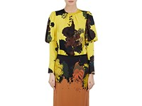 Dries Van Noten Women's Cade Silk Charmeuse Blouse Yellow