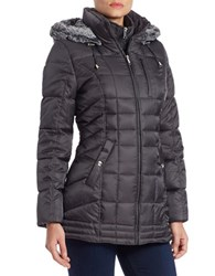 Nautica Faux Fur Trimmed Quilted Jacket