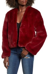 Somedays Lovin 'S Lonely Hearts Faux Fur Jacket Ruby