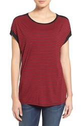 Vince Camuto Women's Two By 'Anchor Stripe' Print Front Tee