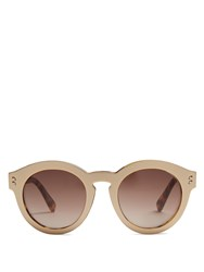 Stella Mccartney Round Frame Acetate Sunglasses Gold
