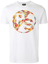 Paul Smith Ps By Multi Coloured Graphic Branded T Shirt White