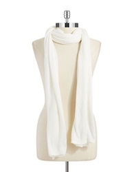 Lord And Taylor Siena Oversized Knit Scarf Ivory