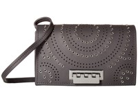 Zac Posen Earthette Crossbody With Signature Hardware Gray