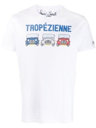 Mc2 Saint Barth Tropezienne Print T Shirt White