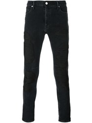 Rta Distressed Skinny Jeans Black