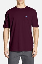 Tommy Bahama Men's Big And Tall 'New Bali Sky' Pima Cotton Pocket T Shirt Rum Berry