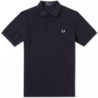 Fred Perry Slim Fit Plain Polo Blue