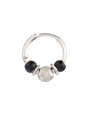 Elise Dray Diamond Onyx And White Gold Mini Rock Earring