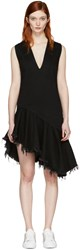 Marques Almeida Black Denim V Neck Dress