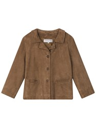 Gerard Darel Alana Leather Jacket Camel