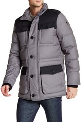 Victorinox Lausanne Colorblock Quilted Jacket Gray