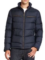 Cole Haan Packable Down Moto Jacket Indian Ink Black