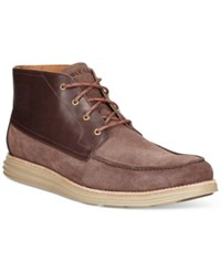 Cole Haan Lunargrand Moccasin Chukka Boots Men's Shoes Medium Brown