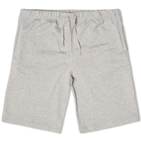 Sunspel Loopback Sweat Short Grey Melange