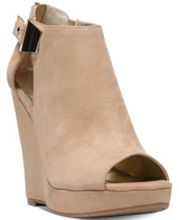 Carlos By Carlos Santana Manchester Cut Out Peep Toe Wedges Women's Shoes Brulee