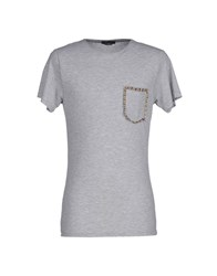 Daniele Alessandrini Homme Topwear T Shirts Men Light Grey