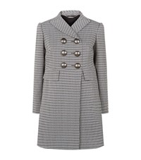 Alexander Mcqueen Double Breasted Houndstooth Coat Female Multi