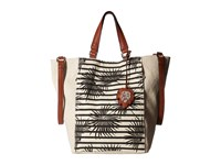 Tommy Bahama Reef Convertible Tote Striped Palm Metallic Linen Tote Handbags