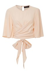 Ellery Dalliance Wrap Top Light Pink