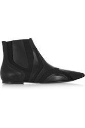 Balenciaga Paneled Leather And Elastic Ankle Boots