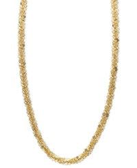 Macy's 14K Gold Necklace 18' Faceted Chain