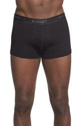 2Xist Men's 2 X Ist 3 Pack No Show Trunks Black Grey Charcoal