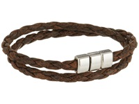 Torino Leather Co. Braided Leather Double Wrap Bracelet Vintage Tan Bracelet
