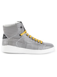 Alexander Mcqueen Houndstooth Hi Top Sneakers Black