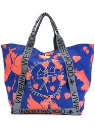 Vivienne Westwood Anglomania Siva Yoga Shopper Tote Blue