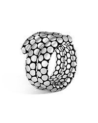 John Hardy Sterling Silver Dot Double Coil Ring