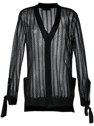 G.V.G.V. Crochet Bow Cardigan Black