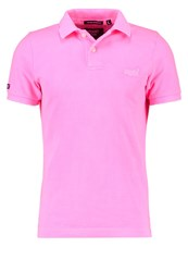 Superdry Polo Shirt Acid Pink Neon Pink