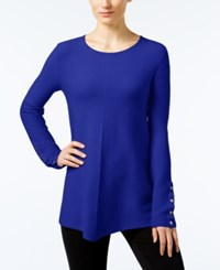 Alfani Ribbed Swing Sweater Only At Macy's Modern Blue