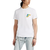 Barneys New York Rainbow Pocket Cotton T Shirt White