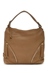 Sondra Roberts Pebble Nappa Shoulder Bag Beige