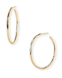 Argentovivo Argento Vivo Hammered Wire Hoop Earrings
