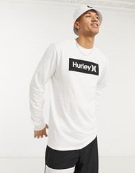 Hurley Core One And Only Boxed Long Sleeved T Shirt In White