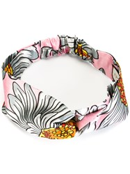 Gucci Floral Knot Front Headband Pink Purple