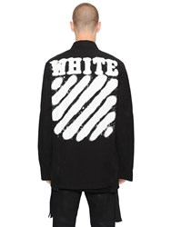 Off White Spray Stripes Cotton Canvas Jacket