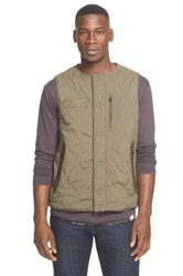 White Mountaineering Quilted Vest Green