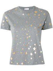 Red Valentino Metallic Stars T Shirt Women Cotton M Grey
