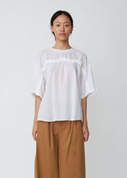 Zucca Bone Embroidery Top White