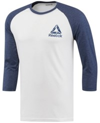 Reebok Men's Logo Baseball Shirt White Navy