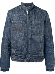 Walter Van Beirendonck Vintage Washed Denim Jacket Blue